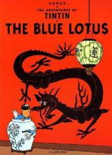 The Adventures of Tintin - The Blue Lotus. Der blaue Lotos, englische Ausgabe