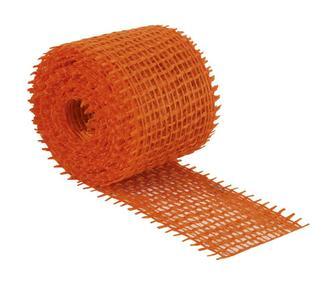 Jutový dekorační pásek - oranžový - 3m x 4 cm