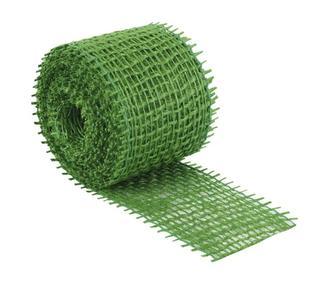 Jutový dekorační pásek - tmavě zelený - 3m x 4 cm