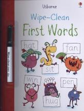 Usborne Wipe Clean First Words, w. Wipe-Clean pen