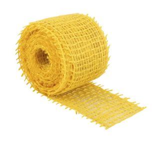 Jutový dekorační pásek - žlutý - 3m x 4 cm