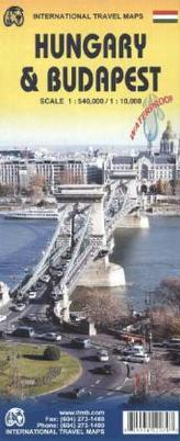 International Travel Map ITM Hungary, Stadtplan Budapest