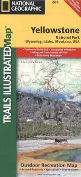 National Geographic Trails Illustrated Map Yellowstone National Park