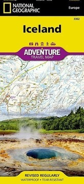 National Geographic Adventure Travel Map Iceland