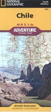 National Geographic Adventure Travel Map Chile