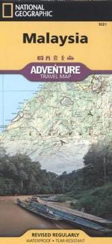 National Geographic Adventure Travel Map Malaysia