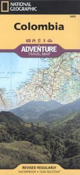 National Geographic Adventure Travel Map Colombia