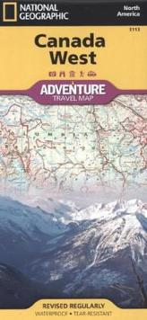 National Geographic Adventure Travel Map Canada West