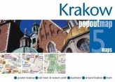 Krakow  PopOut Map, 5 maps