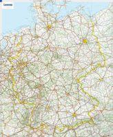 Michelin Karte Deutschland, Planokarte m. Leiste
