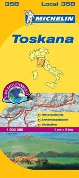 Michelin Karte Toskana. Toscana