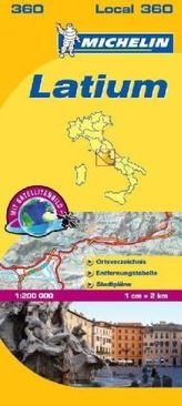 Michelin Karte Latium. Lazio