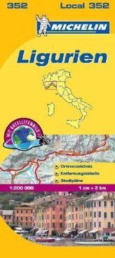 Michelin Karte Ligurien. Liguria