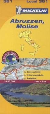 Michelin Karte Abruzzen, Molise. Abruzzo, Molise