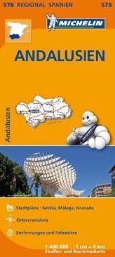 Michelin Karte Andalusien. Espana Sur, Andalucia