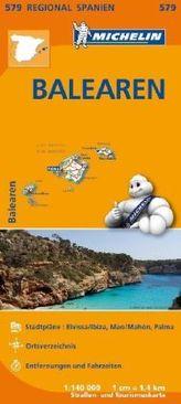 Michelin Karte Mallorca, Ibiza, Menorca. Balears / Baleares
