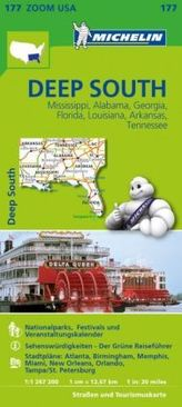Michelin Karte Deep South
