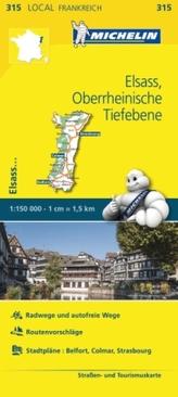 Michelin Karte Elsass, Oberrheinische Tiefebene
