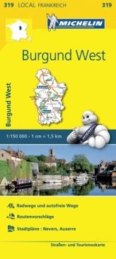Michelin Karte Burgund West