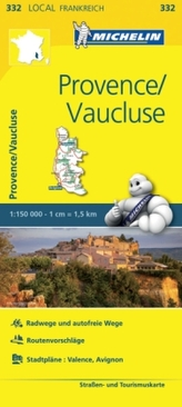 Michelin Karte Provence, Vaucluse