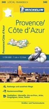 Michelin Karte Provence, Cote d' Azur. Bouches-du-Rhone, Var