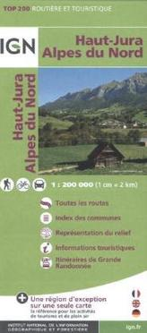 IGN Karte, Routière et Touristique Haut-Jura, Alpes du Nord