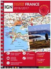 IGN Atlas Routier Touristique France spirale 2016/2017 (Straßenatlas) mit Ortsnamenverzeichnis