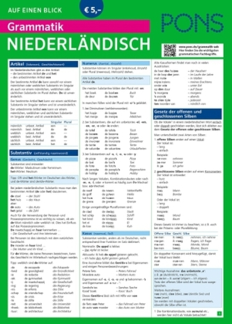 PONS Grammatik auf einen Blick, Niederländisch