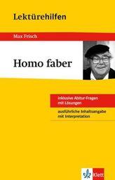 Lektürehilfen Max Frisch 'Homo faber'