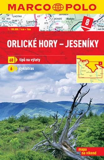 Orlické hory Jeseníky 1:100 000