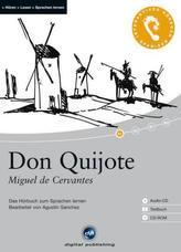 Don Quijote, 1 Audio-CD + 1 CD-ROM + Textbuch