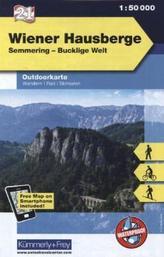 Kümmerly & Frey Outdoorkarte Österreich - Wiener Hausberge