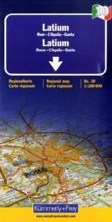 Kümmerly & Frey Karte Latium. Lazio