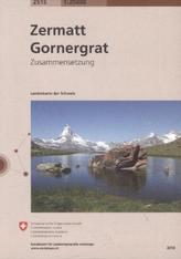 Landeskarte der Schweiz Zermatt, Gornergrat