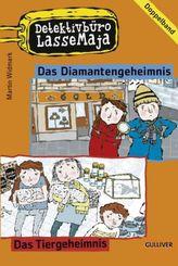Detektivbüro LasseMaja - Doppelband Das Diamantengeheimnis; Das Tiergeheimnis. Nr.2