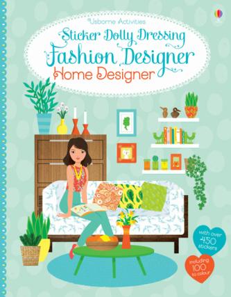 Usborne Sticker Dolly Dressing Fashion Designer Home Designer - Bone, Emily