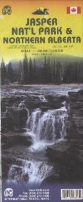 International Travel Map ITM Jasper National Park & Northern Alberta