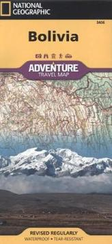 National Geographic Adventure Travel Map Bolivia