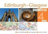 Edinburgh & Glasgow PopOut Map, 4 maps