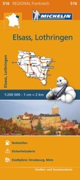Michelin Karte Elsass, Lothringen. Alsace, Lorraine