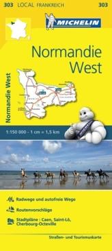 Michelin Karte Normandie West. Calvados, Manche