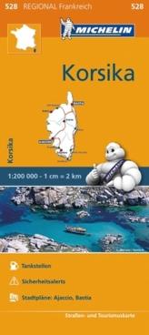 Michelin Karte Korsika. Corse