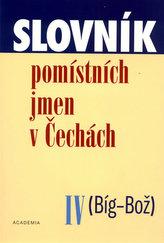 Slovník pomístních jmen v Čechách IV