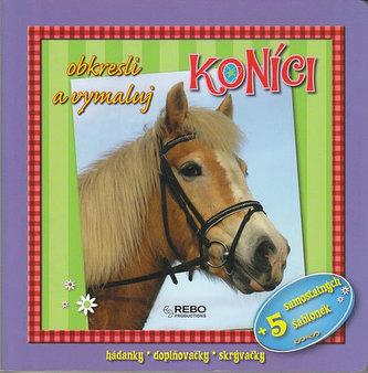 Koníci - obkresli a vymaluj