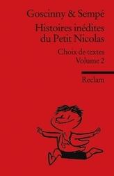 Histoires inédites du Petit Nicolas. Vol.2