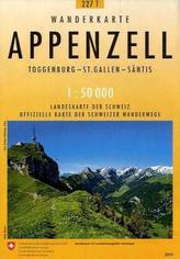 Landeskarte der Schweiz Appenzell