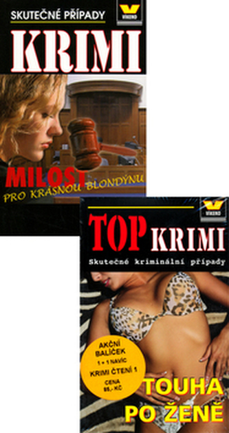 Balíček 2ks TOP KRIMI a Krimi