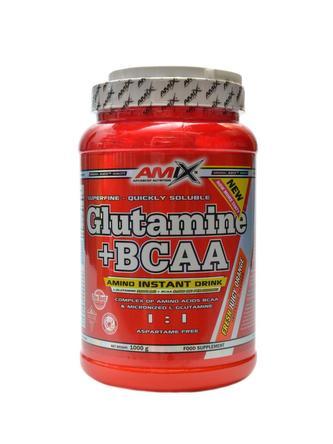 Glutamine + BCAA powder 1000 g - lesní plody