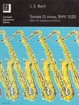 Sonata g-Moll BWV 1020 für Altsaxophon und Klavier