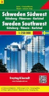 Freytag & Berndt Autokarte Schweden Südwest. Västra Svealand. Zweden Zuidwest